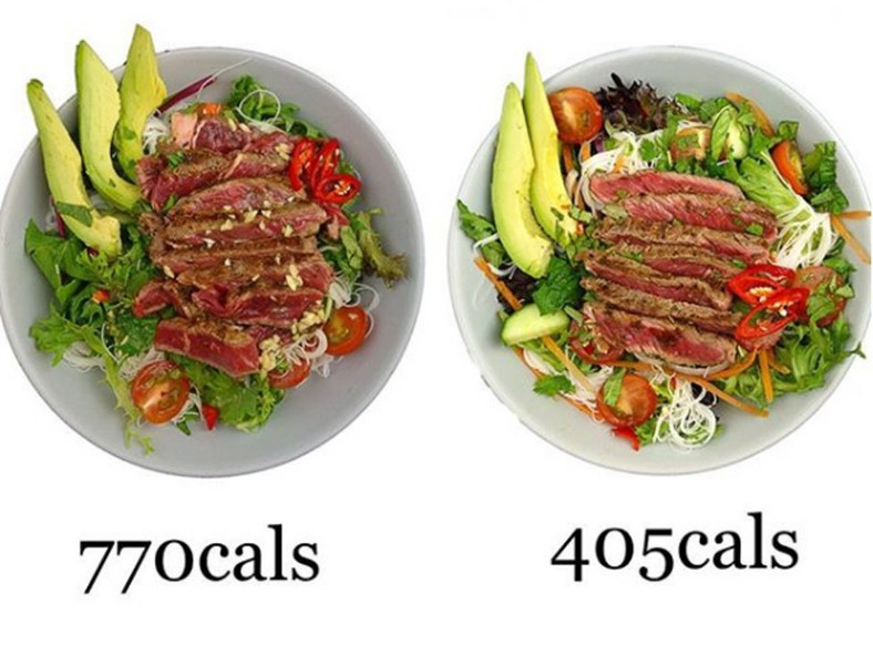 salad less calories