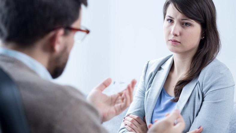Kobieta u psychologa. Psychoterapia