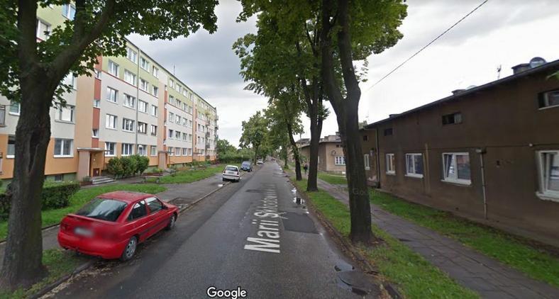 Ul. Marii Skłodowskiej-Curie w Inowrocławiu, przy której doszło do strzelaniny