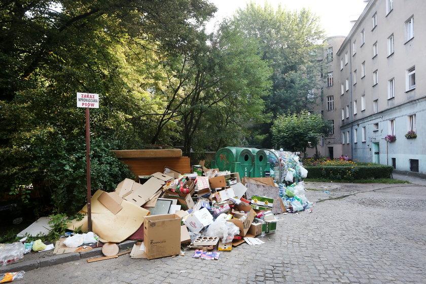 Odpadki przed kubłami