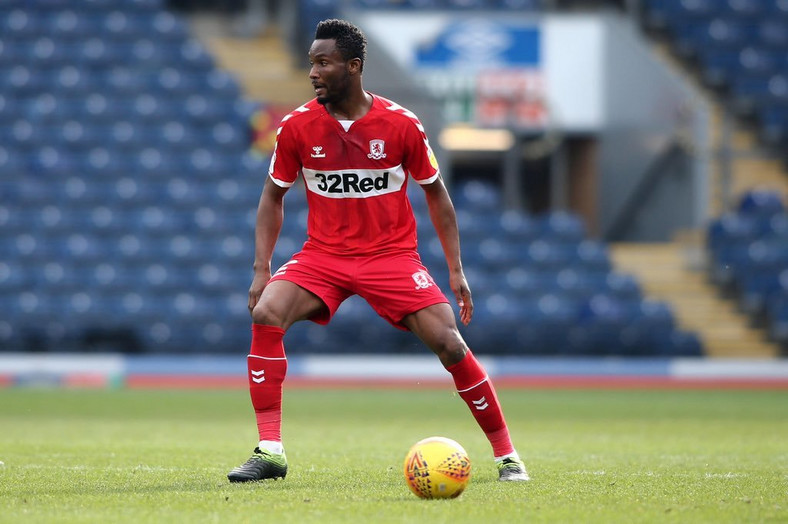 Mikel Obi spent the secodn half of the 2018/2019 season with Middlesbrough in the English Championship (Twitter/Middlesbrough)