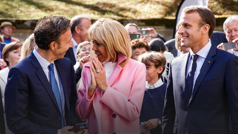epa07022196 - FRANCE MACRON CULTURE (Emmanuel Macron at the Villa Viardot in Bougival)