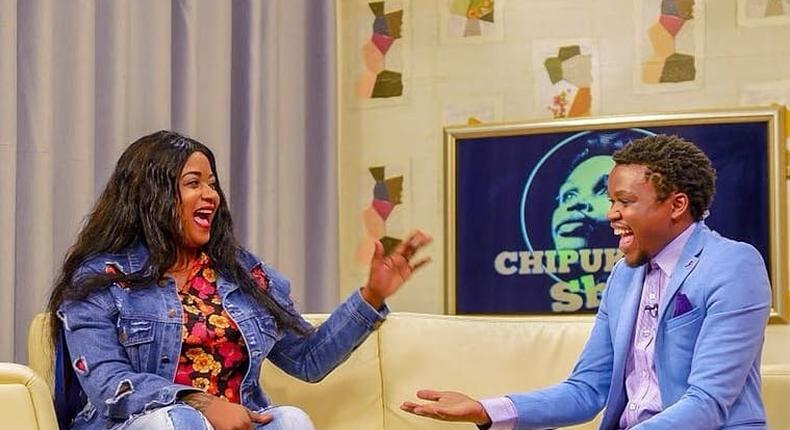 Shilole with Chipukzeey. Shilole breaks down in tears over her poor English
