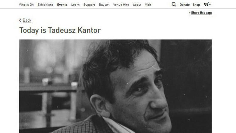Tadeusz Kantor, Londyn 2015