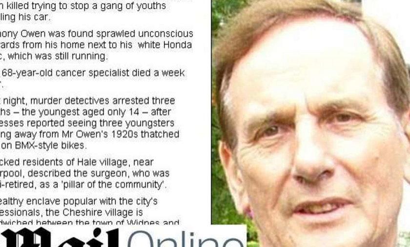 Nastolatkowie zabili znanego lekarza