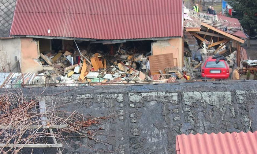 Wybuch gazu rozerwał dom. FOTO