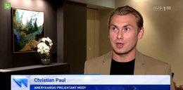 """Kim jest amerykański projektant Christian Paul z """"Wiadomości""""? Kalecząc polski, mówi: kocham te ludzie"""