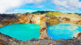 Wulkan Kelimutu i jego trzy jeziora zmieniające kolor