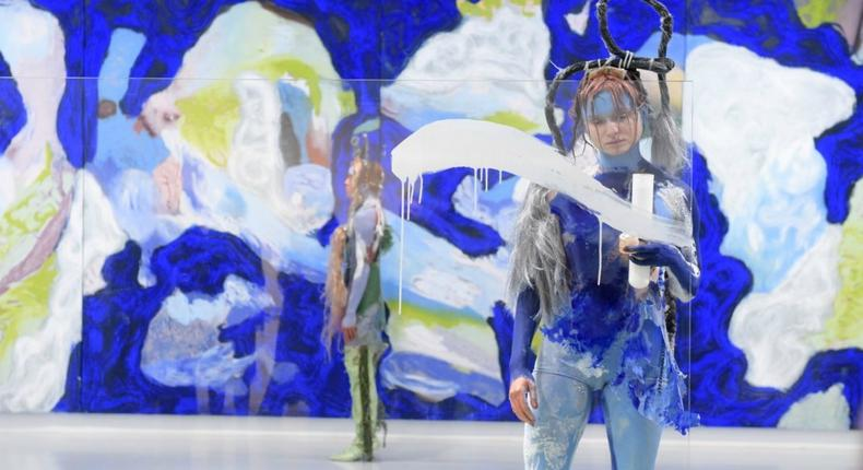Bare skin is the canvas for Donna Huanca