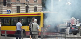 Pożar autobusu MPK w Łodzi