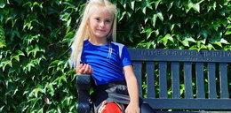 Po narodzinach straciła obie nogi. Teraz 9-latka przeszła do historii