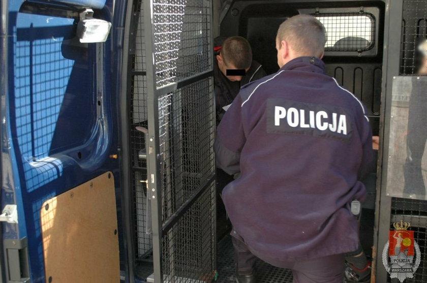 Bandyta złapany przez policje