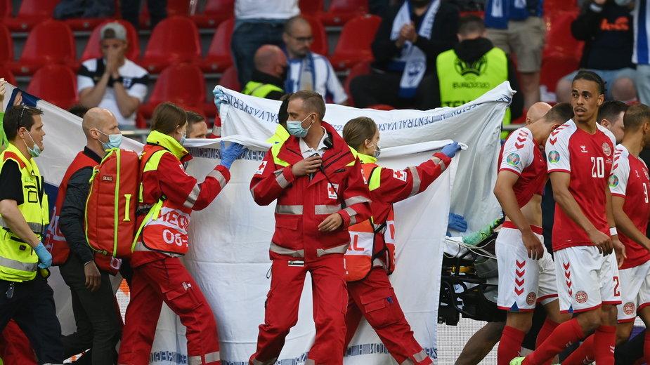 Christian Eriksen był reanimowany na boisku