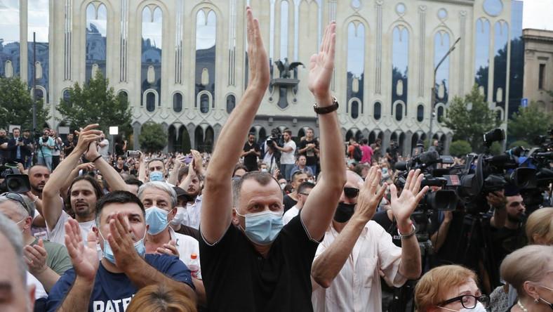 Protest w Gruzji