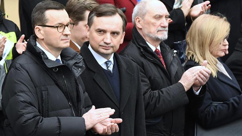 Mateusz Morawiecki, Zbigniew Ziobro i Antoni Macierewicz