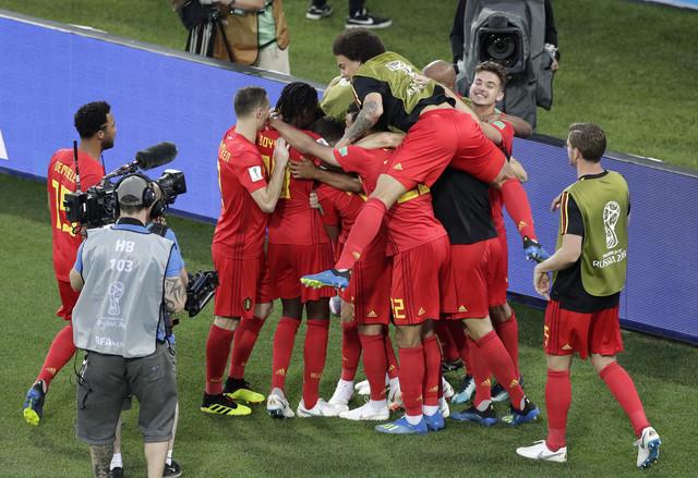Slavlje Belgijanaca, jedine ekipe koja je na ovom Mundijalu zaigrala u formaciji 3-4-2-1, i to jednom