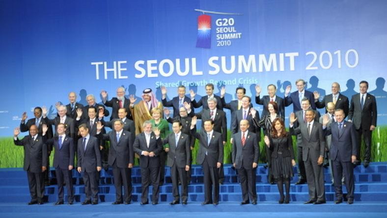 Uczestnicy szczytu G20, fot. AFP/Philippe Wojazer