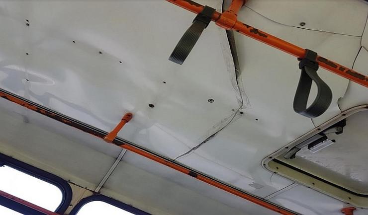 Novi Sad, autobus zalepljen selotejpom