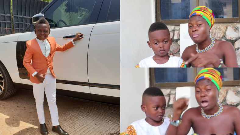 Yaw Dabo, Akua Adom and her son