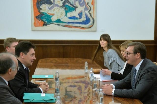 Olivije Kadik i Aleksandar Vučić
