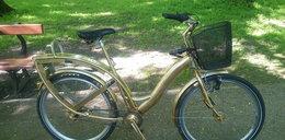 Ukradł rower miejski i przemalował go na złoto