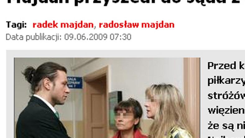 Majdan do sądu przyszedł z mamą