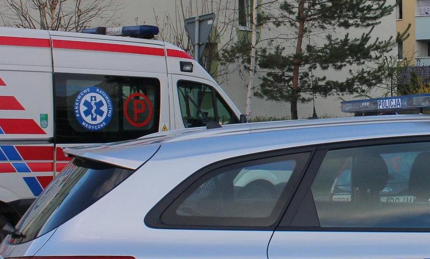 Wrocław. Chciał wyskoczyć z okna. Policjant w ostatniej chwili złapał go za rękę