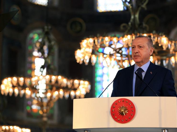 Redžep Tajip Erdogan u Aji Sofiji 2018.