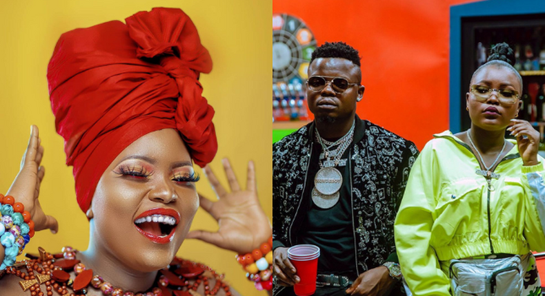 Harmonize signs first female artiste Angela to his record Label Konde Music Worldwide (Photos)