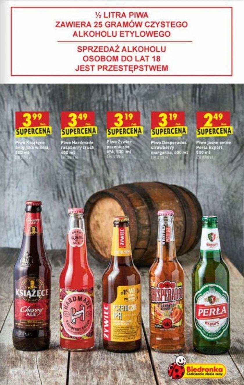 Biedronka na początek Euro obniża także ceny piw smakowych
