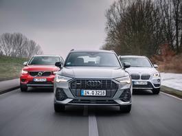 Audi znowu ma przewagę? Porównanie: Audi Q3, BMW X1 i Volvo XC40