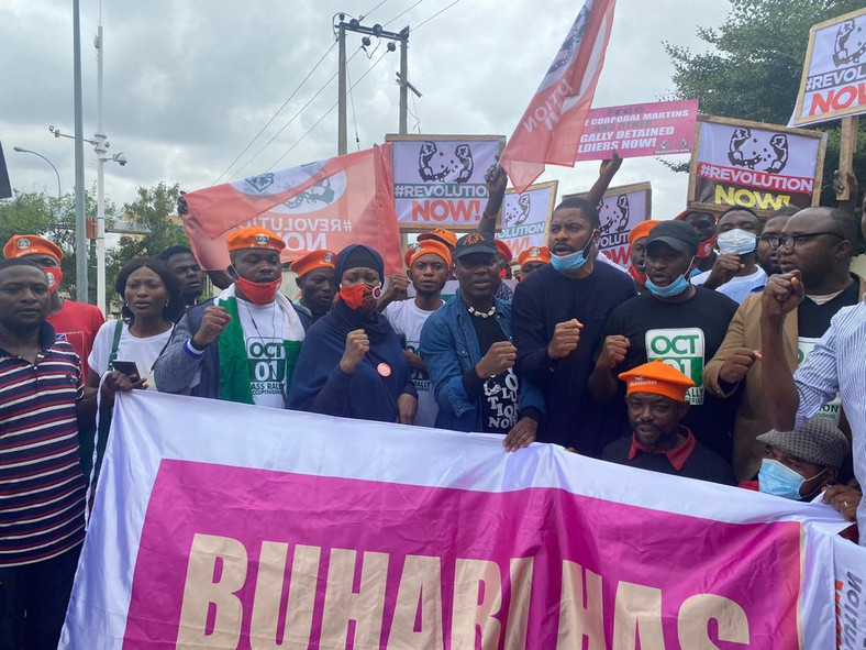 Sowore joined other Revolution Now protesters in Abuja on Independence Day [Sahara Reporters]
