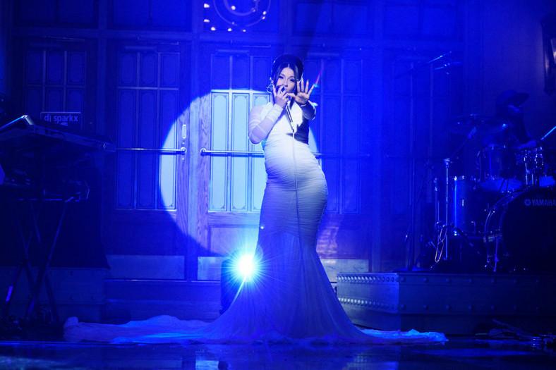 Cardi B during Saturday Night Live in 2018.
