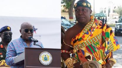 Go and complete the E-block yourself if you're tired – Akufo-Addo to Aflao Chief