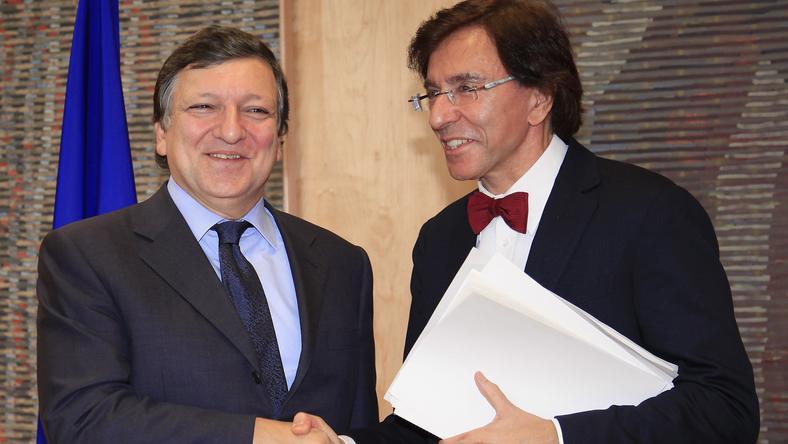 Jose Manuel Barroso z premierem Belgii Elio di Rupo. Fot. Reuters