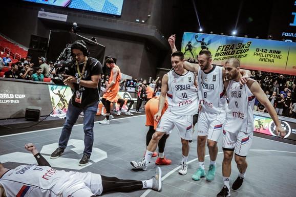 Basketaši Srbije su treći put zaredom postali svetski prvaci