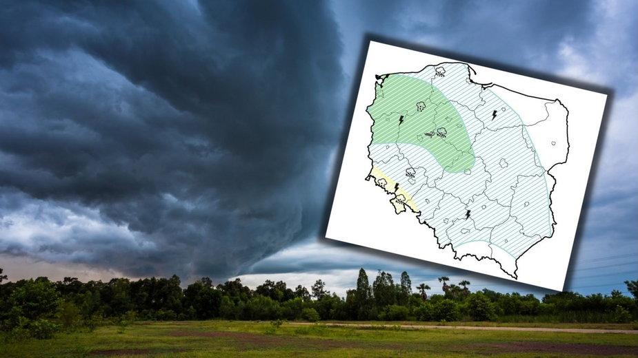 Na zachodzie i południu wrócą burze. Sprawdź aktualną prognozę pogody
