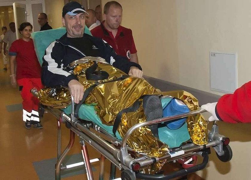 Bogdan Zdrojewski, wypadek, szpital