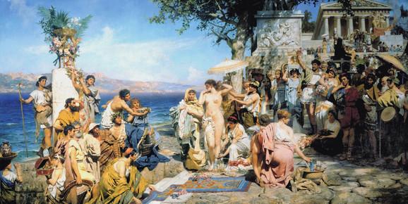 Henrik Sjemiracki, Roma (Frina u Posejdoniji), oko 1889.