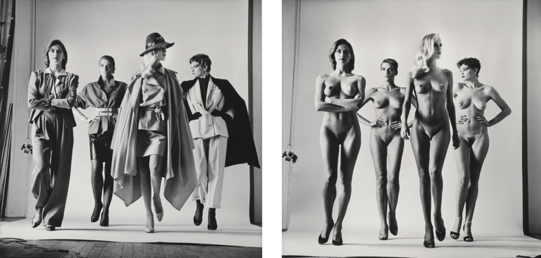 """Sie kommen"" (dressed and naked), ⓒ The Helmut Newton Estate"