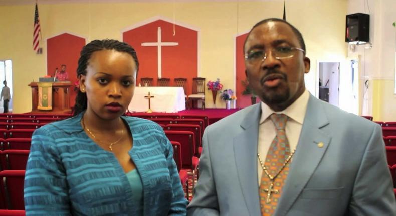 File image of Pastor James Nganga with his wife