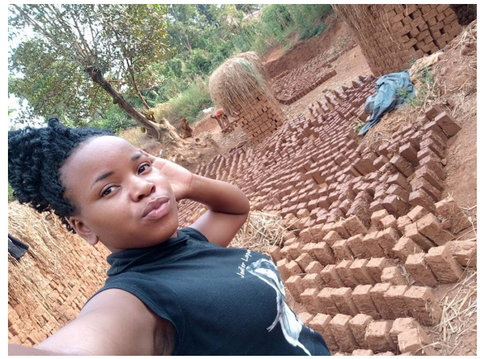 Pretty but deprived journalism student makes bricks to cater for her education