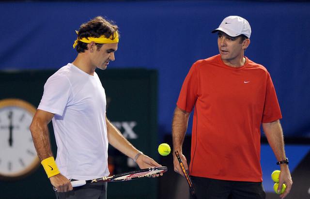 Pol Anakon i Rodžer Federer