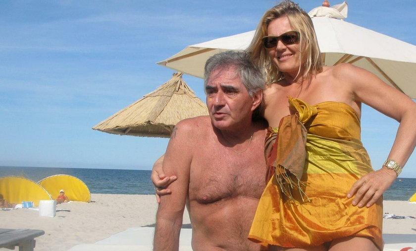 Grażyna Szapołowska i Eryka Stępniewski na plaży
