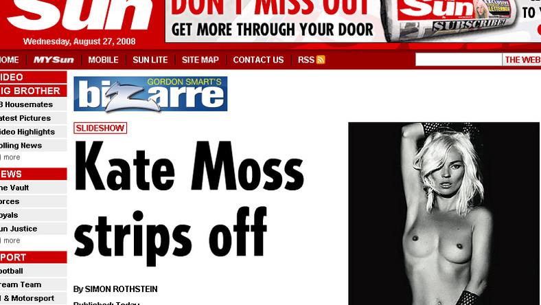 Kate Moss: Sztuczny biust się przemieszcza
