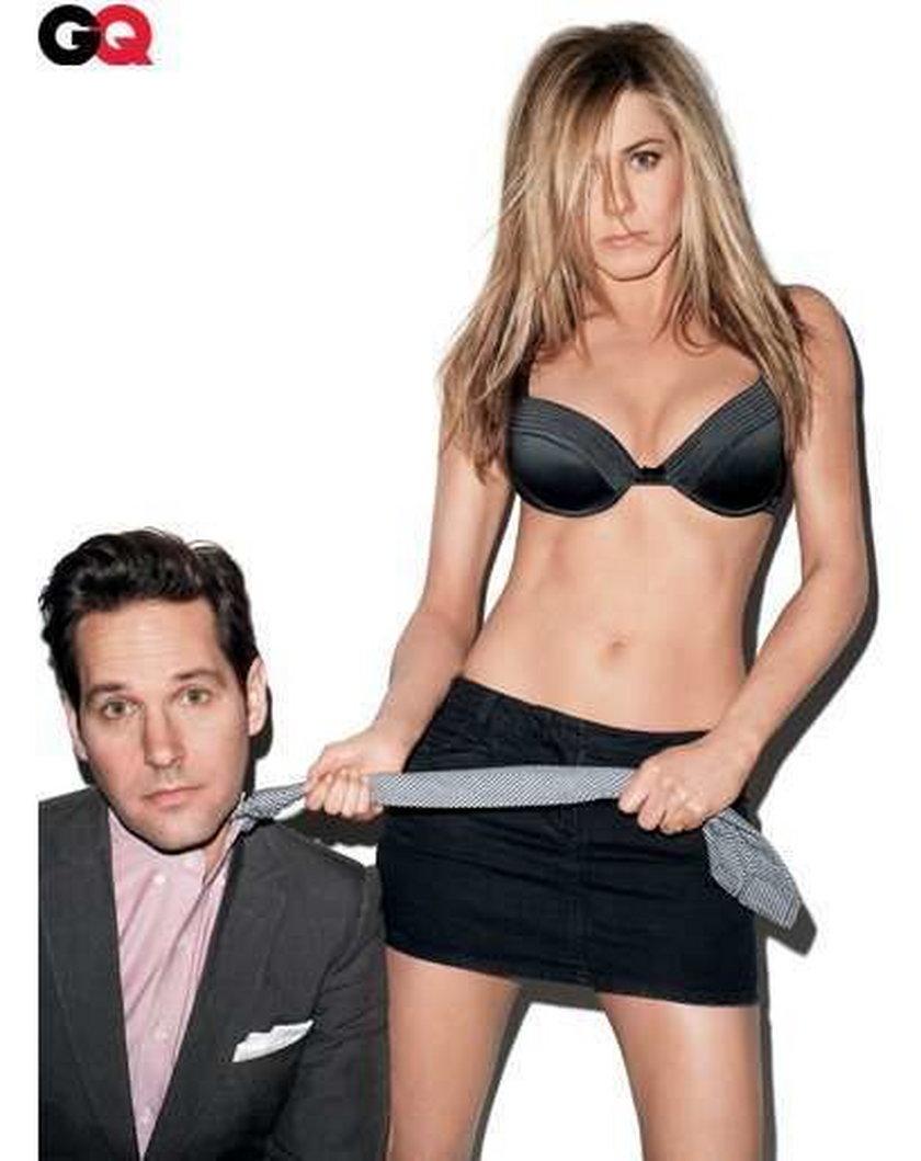 Jennifer Aniston z partnerem w ostrej sesji