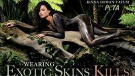 Jenna Dewan rozebrała się dla PETA