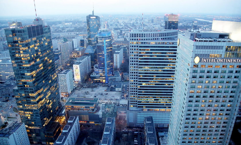 Biurowce w centrum Warszawy