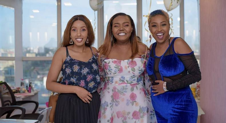 Doreen Majala, Cate Rira and Vivianne. Cate Rira ventures into Business months after partying ways with Nation FM (Photos)