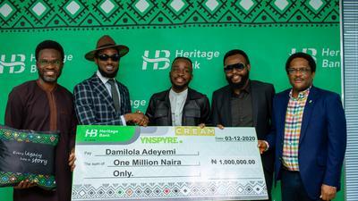 D'Banj's Cream Platform and Heritage Bank kickstart 'YNSPYRE' Campaign